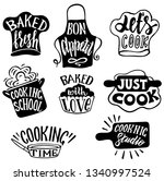 cooking label set. cook  food ... | Shutterstock .eps vector #1340997524
