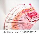 100 yuan note  bank account ...   Shutterstock . vector #1341014207