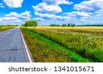 rural field road landscape....   Shutterstock . vector #1341015671
