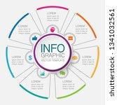 vector infographic template for ... | Shutterstock .eps vector #1341032561