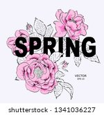 floral print for clothes.... | Shutterstock .eps vector #1341036227