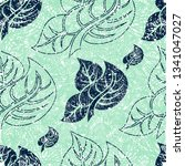 vector seamless floral grunge... | Shutterstock .eps vector #1341047027