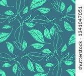 vector seamless floral grunge... | Shutterstock .eps vector #1341047051
