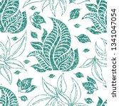 vector seamless floral grunge... | Shutterstock .eps vector #1341047054