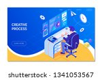 creative process and... | Shutterstock .eps vector #1341053567