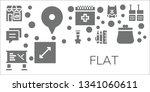 flat icon set. 11 filled flat...