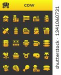 cow icon set. 26 filled cow... | Shutterstock .eps vector #1341060731