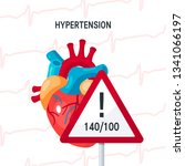 hypertension vector concept.... | Shutterstock .eps vector #1341066197