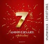 7 golden number and anniversary ... | Shutterstock .eps vector #1341071861