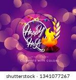 happy holi indian hindu... | Shutterstock .eps vector #1341077267