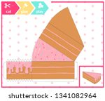 colorful 3d pie of cake.... | Shutterstock .eps vector #1341082964