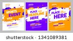 layout design template for... | Shutterstock .eps vector #1341089381