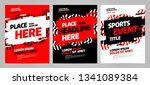 red layout design template for... | Shutterstock .eps vector #1341089384