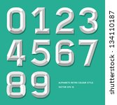 modern alphabet number colour... | Shutterstock .eps vector #134110187