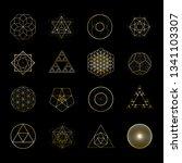 sacred geometry vector design...   Shutterstock .eps vector #1341103307