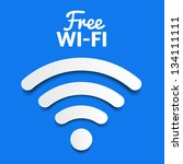 vector wifi symbol  free wifi | Shutterstock .eps vector #134111111