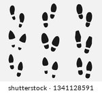 set of footprints shoes... | Shutterstock .eps vector #1341128591
