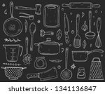 big set elements with hand... | Shutterstock .eps vector #1341136847