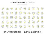 set of vector line icons and... | Shutterstock .eps vector #1341138464