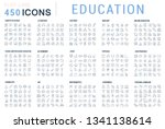 collection of vector line icons ... | Shutterstock .eps vector #1341138614