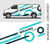 car livery light blue van wrap...   Shutterstock .eps vector #1341140507