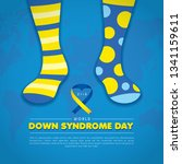 21 march   world down syndrome...   Shutterstock .eps vector #1341159611