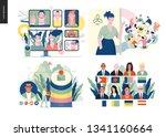 technology 1 set   modern flat...   Shutterstock .eps vector #1341160664