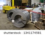 coils of steel in a... | Shutterstock . vector #1341174581