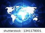 abstract digital technology... | Shutterstock .eps vector #1341178001