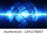 abstract digital technology... | Shutterstock .eps vector #1341178007