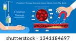 chelation therapy lead mercury... | Shutterstock .eps vector #1341184697