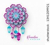 ramadan kareem holiday...   Shutterstock .eps vector #1341209921