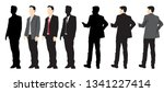 set of silhouettes man standing ... | Shutterstock .eps vector #1341227414