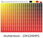 color palette mixer 3 color ... | Shutterstock .eps vector #1341240491