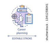 career planning concept icon.... | Shutterstock .eps vector #1341258041