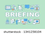 briefing concept icon. public... | Shutterstock .eps vector #1341258104