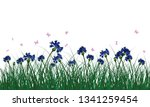 meadow with butterflies. all... | Shutterstock .eps vector #1341259454