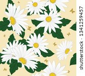 seamless vector floral pattern. ... | Shutterstock .eps vector #1341259457
