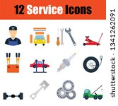 set of service station icons.... | Shutterstock .eps vector #1341262091