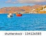 greece  wooden traditional... | Shutterstock . vector #134126585