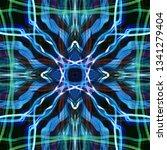 light mandala. symmetry and... | Shutterstock . vector #1341279404