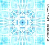 light mandala. symmetry and... | Shutterstock . vector #1341279407