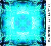 light mandala. symmetry and... | Shutterstock . vector #1341279434
