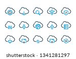 cloud data related line icons....
