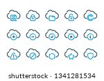 cloud service and technology... | Shutterstock .eps vector #1341281534