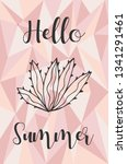 """hello summer"" text and cactus... 