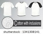 a set of t shirts made of white ... | Shutterstock .eps vector #1341308141