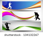 cricket website headers or... | Shutterstock .eps vector #134132267