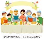 Happy Jewish Family Celebratin...