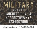 military stencil font. army... | Shutterstock .eps vector #1341324584